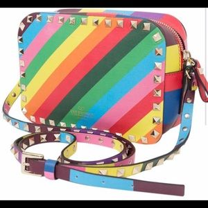 Rockstud Rainbow Multi Camera Crossbody Handbag